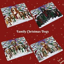 Christmas Family Portrait Dogs Cats Small Mini Magnet Gifts Home Décor