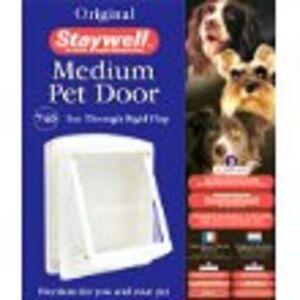 Staywell Original Pet Door Medium for Dog and Cat White 740 EFS