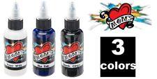 MOMS Tattoo Ink Popular 3 Colors Custom Set # 2 Bottle 1/2 oz 15 ml Authentic