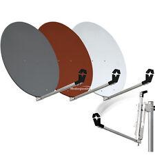 80cm Standard Aluminium Sat Spiegel Antenne Alu Satelliten Ziegelrot 80 cm