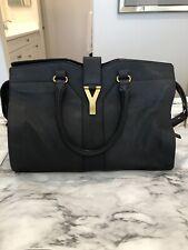 Saint Laurent YSL Medium BO Cabas Chyc Dark Gray Handbag $2150