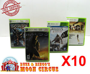 10X XBOX 360 CIB GAME - CLEAR PLASTIC PROTECTIVE BOX PROTECTOR CASE SLEEVE