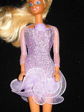 #3520 BARBIE CLOTHES: TAGGED BARBIE GLITTERY LAVENDER DRESS