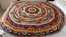 Handmade Crochet  Mandala  Blanket  Throw