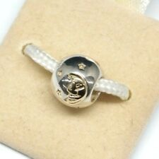 NEW AUTHENTIC CHAMILIA 14KT GOLD CRESCENT MOON & STAR STERLING .925 CHARM #KC-13