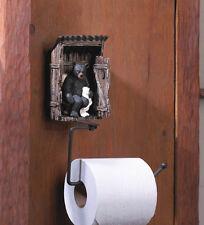 UNIQUE RUSTIC TOILET PAPER HOLDER BLACK BEAR OUTHOUSE NOVEL