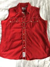 VTG Panhandle Slim Mens Red Pearl Snap Western Shirt Sz Extra Large XL