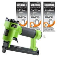 Pneumatic Upholstery Stapler 22-Gauge Upholstery Staples Air Nailer Gun Kit Tool