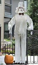"""Tall Standing White Ghost Groom w/ Lighted Flashing Red Eyes Halloween Prop 67""""H"""