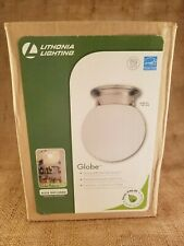 Lithonia Lighting Globe Model No 11981 BNP Polished Brushed Nickel Finish