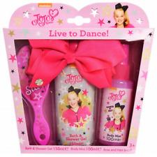 Jojo Siwa Live to Dance Hair Brush Bath & Shower GEL Body Mist Bow Gift Set Girl