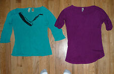 Lot BKE The Buckle oversized short sleeve loose blouses T-shirts tops Size S