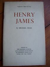 Henry James by Michael Swan (pamphlet, 1950)