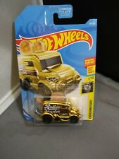 HOT WHEELS ROLLER TOASTER EXPERIMOTORS #1/10 GOLD DIECAST 1:64 SCALE MUST SEE!