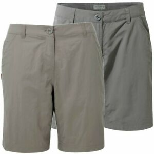 CRAGHOPPERS LADIES GREY NOSILIFE SHORTS CWJ1112 OUTDOOR WALKING