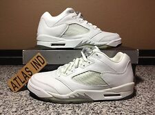 AIR JORDAN 5 RETRO LOW White Metallic Silver Nike V 1 3 4 6 11 Supreme 2006 7.5