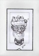 CAPRICHOS DEL FUEGO Original Art Drawing Cuba Cuban FERNANDO GODERICH FABARS 17
