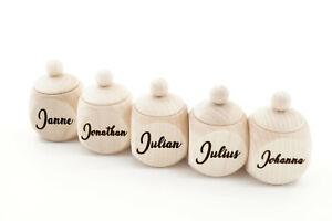 Milchzahndose Zahndose aus Holz inklusive persönlicher Gravur Holzdose Zahnfee