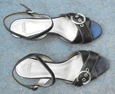 Joan & David brown leather   womens high heel shoes size 8 M used