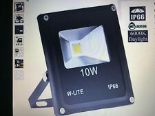 W-LITE 10W Super Bright LED Floodlight Outdoor, 800Lm, 100W Halogen Bulb Equival