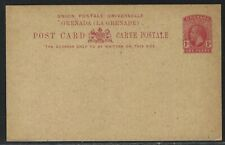 1912 Grenada King George V Postal Card - H&G #14 - Mint