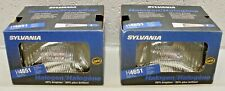 "H4651 Sylvania USA Halogen NOS O.E. High Beam Headlight 6-1/2"" x 4"" - PAIR of 2"