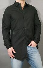 G-STAR JEANS HEMD DEFEND LONG SHIRT L/S RINSED BLACK EXTOR DNM SIZE GR.L COTTON
