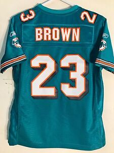 Reebok Women's Premier Jersey Miami Dolphins Ronnie Brown Teal sz S
