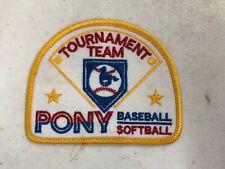 Vintage Baseball Softball Pony Tournament Patch emblem Scrapbooking Sport Emblem