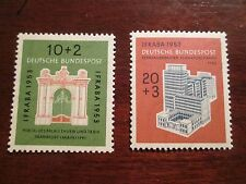 Scott #B 332 & B 333, 1953,10+2 pf. & 20+3 pf., Telecommunications Bld,  MNHOG