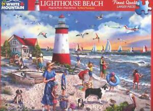 Mary Thompson 550 Pc White Mountain Jigsaw Puzzle Lighthouse Beach NIB