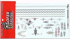 Gofer 11029 Gold Pinstriping and Scallops #2 Decal Sheet 1/24 and 1/25