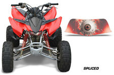 AMR Racing Head Light Eyes Honda TRX 400EX ATV Headlight Decals Part SPLICED RED