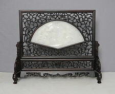 Chinese  He-Tian  White  Jade  Insert  Table  Ornament      M1618