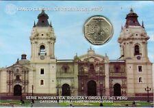 Peru 2014 Coin 1 Nuevo Sol Blister Catedral de Lima
