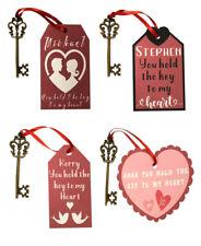 Personalised Key To My Heart Small Valentine Gift, Love Token, Present,Keepsake