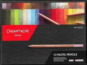 Caran D'Ache 40 Pastel Pencils von Artist Swiss Made