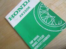 Honda XR250R XR250 Workshop Manual - Supplement ! - 66KT100X  RJ