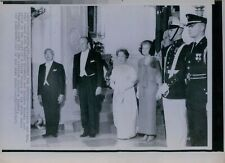 1975 President Ford w/Japan Emperor Hirohito Wire Photo