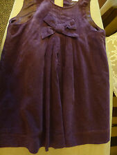 Gorgeous EARLYDAYS girls tiny cord fully lined purple dress (18-24 mths)