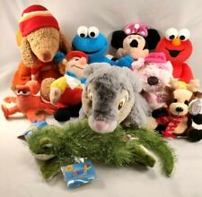 Sesame Street Disney misc Plush Lot Elmo Cookie Monster Minnie Stuffed Animal