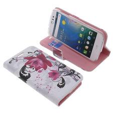 Tasche für Acer Liquid Z530 Book-Style Schutz Hülle Handytasche Buch Lotus Blüte