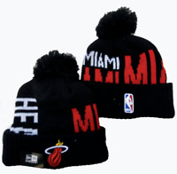 NBA Miami Heat Basketball Beanie Cap Knit Warm Winter Hat Fleece lined
