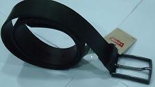 LEVIS Uomo Cintura Man Belt in pelle con Fibbia logo, col Marrone Vintage