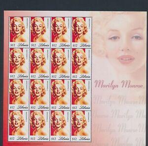 XC89350 Liberia Marilyn Monroe fp XXL sheet MNH