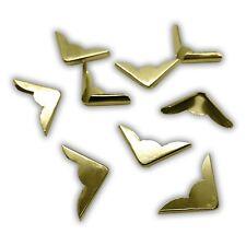 20 Stück - Buchecken / Buchbeschläge (vermessingt / gold, 22 x 22 x 4,5 mm)