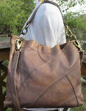 FOSSIL Long Live Vintage Distressed Leather Patchwork Bag Crossbody Purse M/L