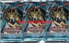 YUGIOH  3 X DARK CRISIS  BOOSTER PACKS LEGENDARY COLLECTION LC01 NEW & SEALED