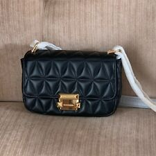 MICHAEL KORS BLACK Sloan Small Quilted Leather Crossbody Bag Gold Tone Hardware