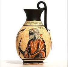 Ceramic Vase Pot  black-figure Greek  Pottery Painting Greek King God Zeus 6.3΄΄